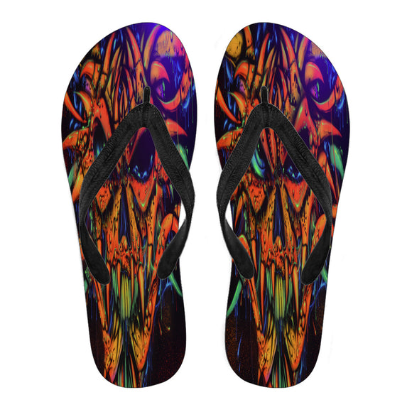 Women's Flip Flops - Horned Demon