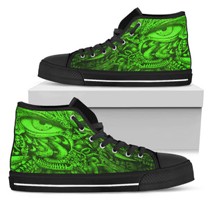Men's High Top Shoes - Oculus green