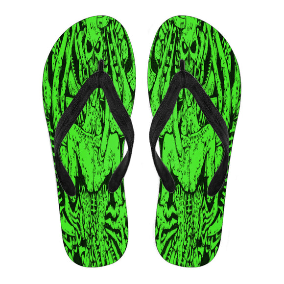 Men's Flip Flops - Green Monster