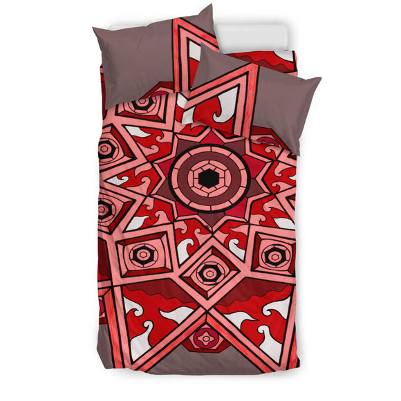 Bedding Set - Slaya Collection - Red Star Medallion - Express Shipping