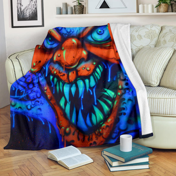 Premium Blanket - Toothy Clown - Express Shipping