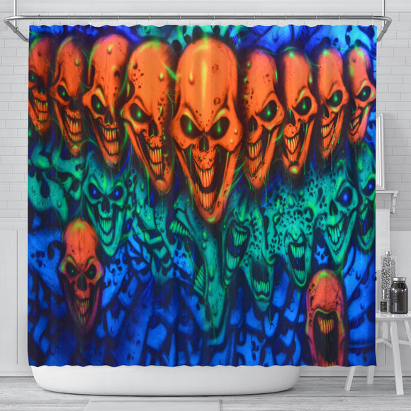 Shower Curtain - Skull Lineup