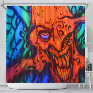 Shower Curtain - Red Ghoul