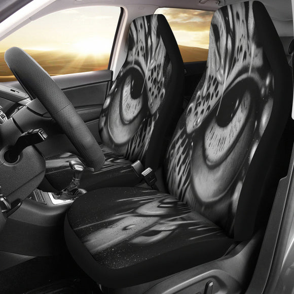 Car Seat Covers - Eyeball b/w