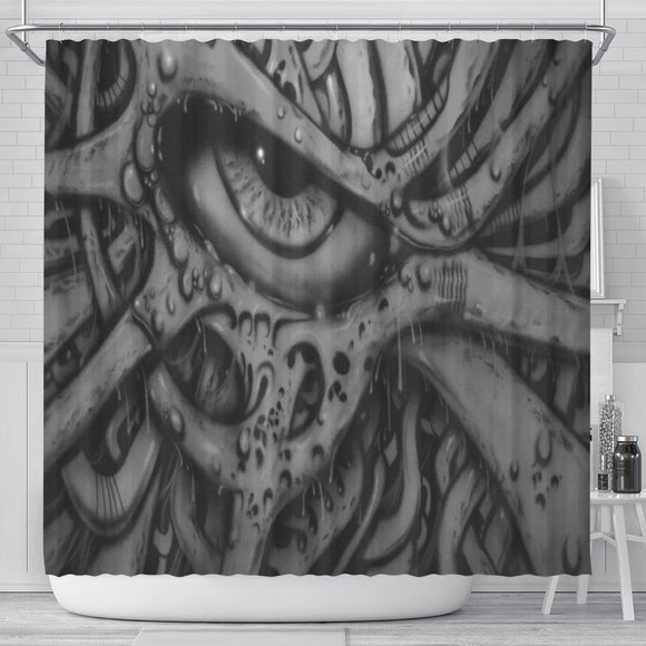 Shower Curtain - Eyeball b/w