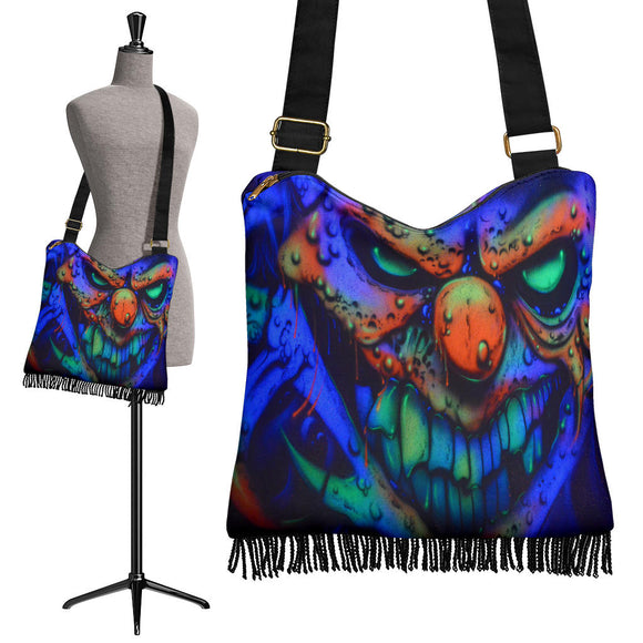 Crossbody Boho Handbag - Clown Snarl