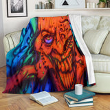 Premium Blanket - Red Ghoul - Express Shipping