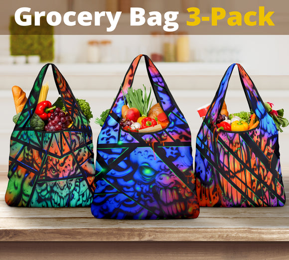 Grocery Bag 3-Pack - Fractal Collection
