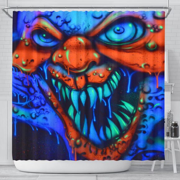 Shower Curtain - Clown Grimace