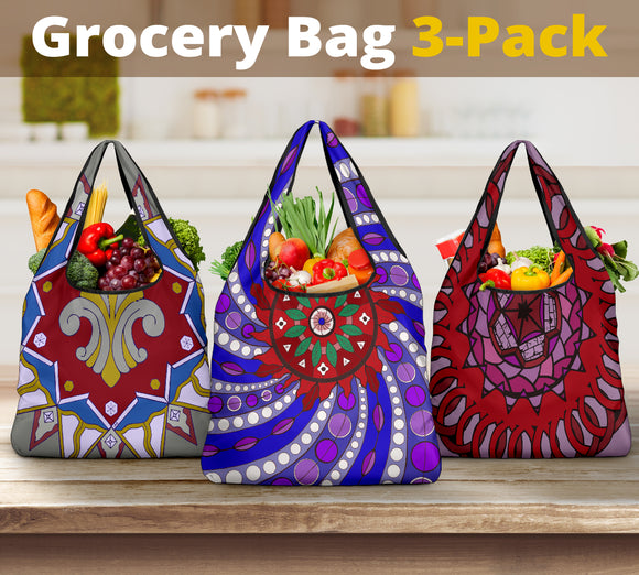 Grocery Bad 3 pack - Slaya Collection - Swirl Pack #2