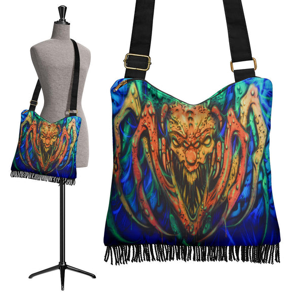 Crossbody Boho Handbag - Creepy Spider