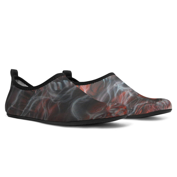 Aqua Shoes - Haunted House red
