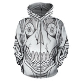 All Over Zip-Up Hoodie - Slaya Collection - Skull Wheels