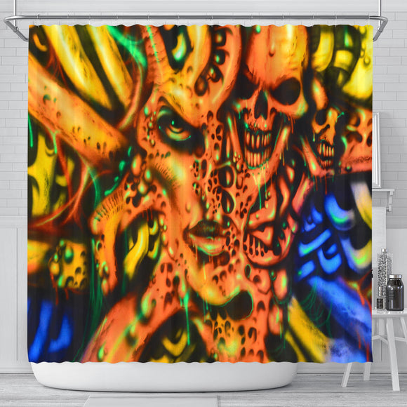 Shower Curtain - Face Skull