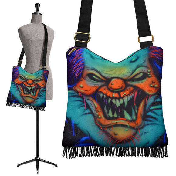 Crossbody Boho Handbag - Clown Fang