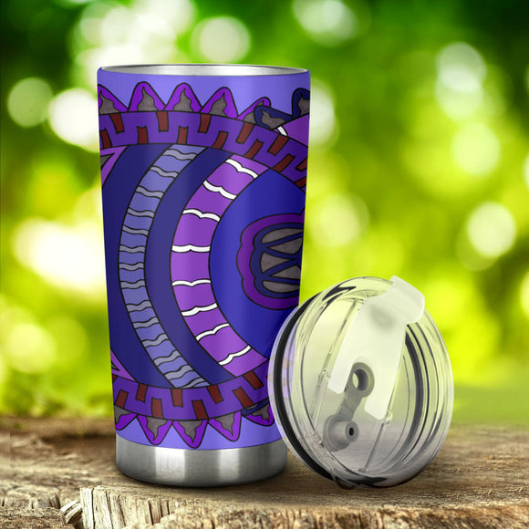 Tumbler - Slaya Collection - Concentric Circles purple