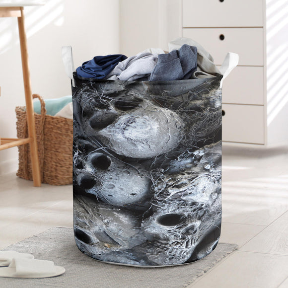Laundry Basket - Skull Pile grey