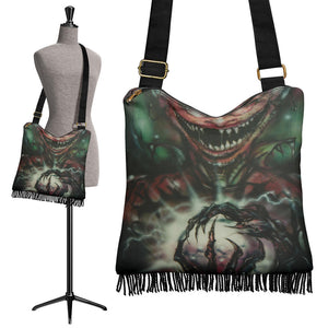 Crossbody Boho Handbag - Bat Boy Rictus