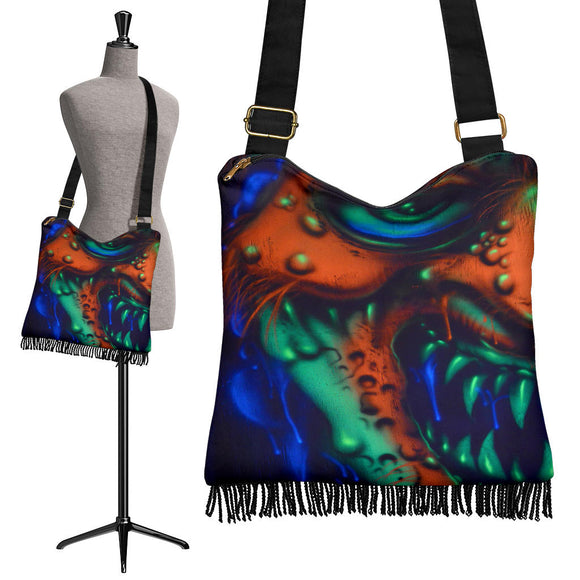 Crossbody Boho Handbag - Clown Growl