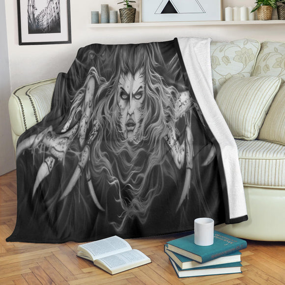 Premium Blanket - Spider Woman b/w