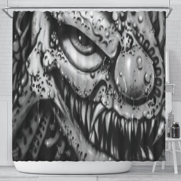 Shower Curtain - Clown b/w
