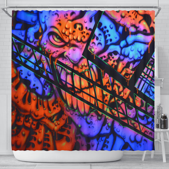 Shower Curtain - Gooey Face Fractal - Express Shipping