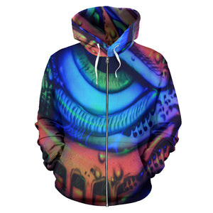 All Over Zip-up Hoodie - Eye Pipes - Express Shipping
