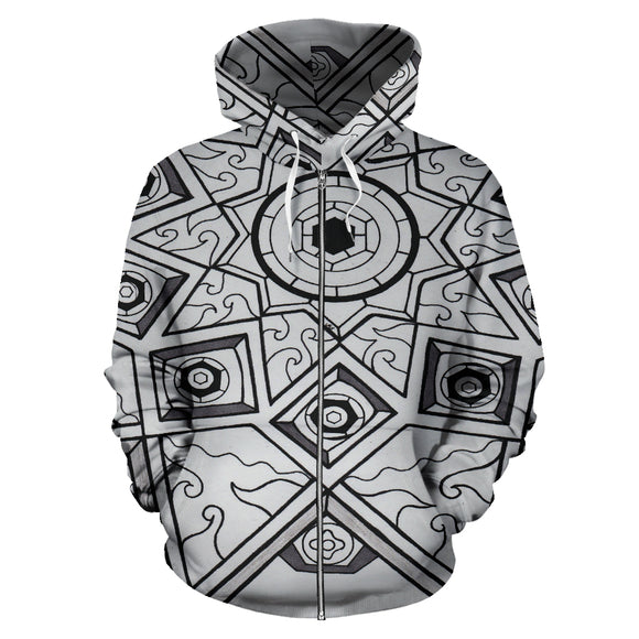 All Over Zip-Up Hoodie - Slaya Collection - Star b/w