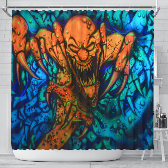 Shower Curtain - Clawed Clown
