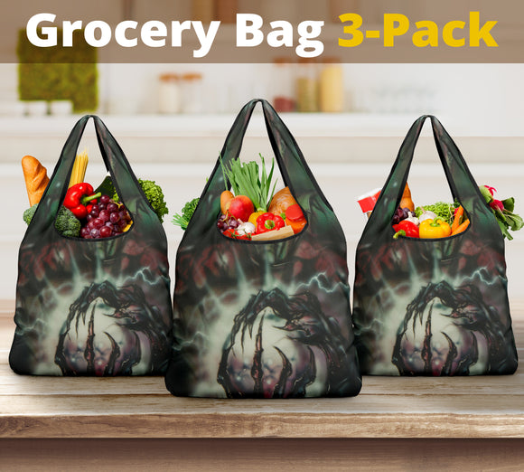 Grocery Bag 3 pack - Bat Boy Rictus
