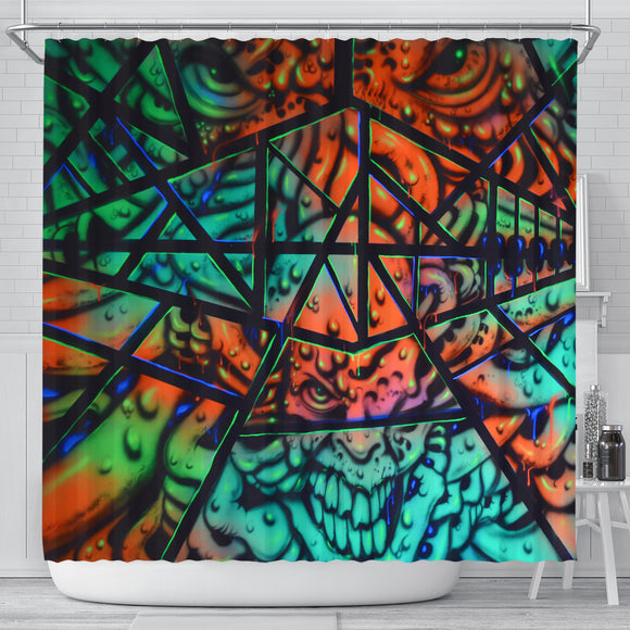 Shower Curtain - Fractal Faces - Express Shipping