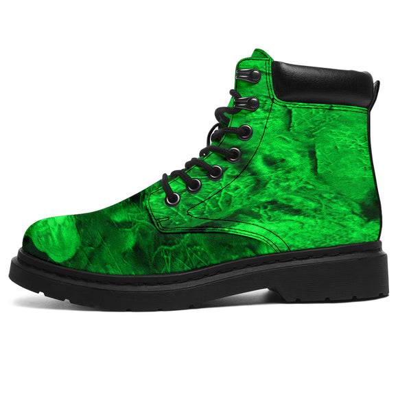 All Seaon Boots - Skull Haze green
