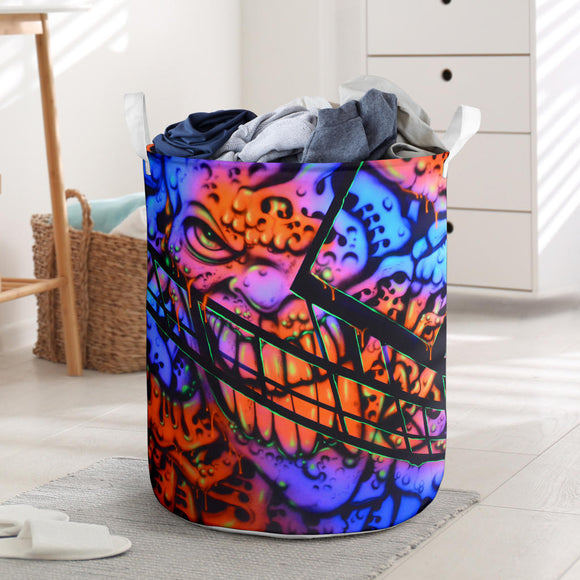 Laundry Basket - Gooey Face Fractal - Express Shipping