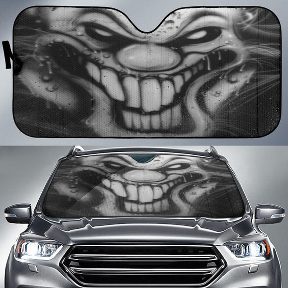 Auto Sun Shade - Smiley b/w