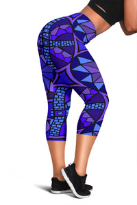 Capris - Slaya Collection - Circle Star blue