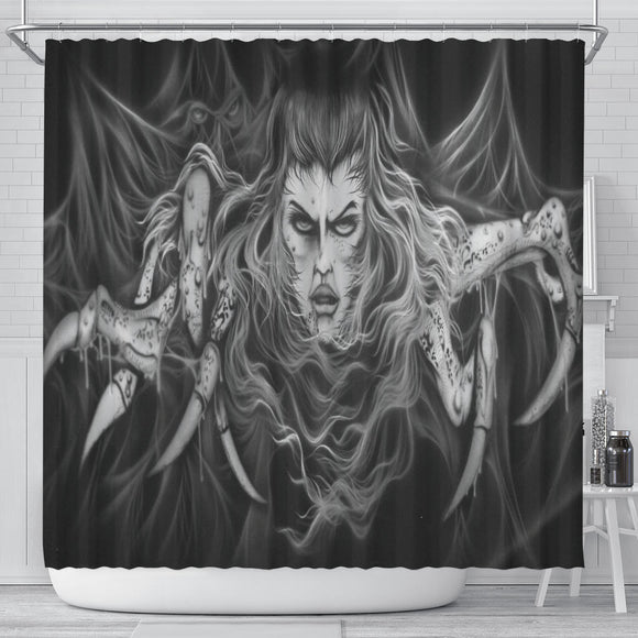 Shower Curtain - Spider Woman b/w