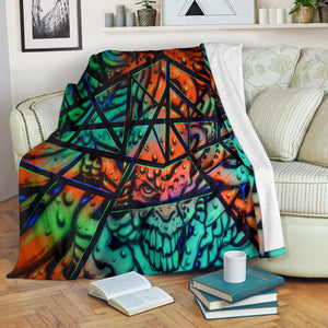 Premium Blanket - Fractal Faces - Express Shipping