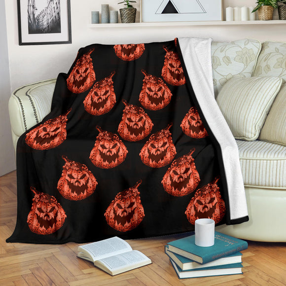 Premium Blanket - Pumpkin Craze orange