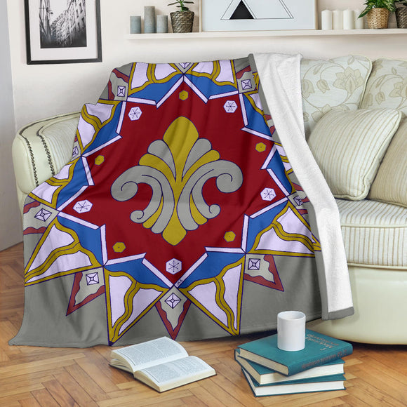 Premium Blanket - Slaya Collection - red blue Star