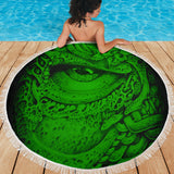 Beach Blanket - Eye Matrix green