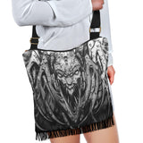 Crossbody Boho Handbag - Creepy Spider b/w