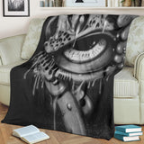 Premium Blanket - Eyeball b/w
