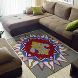 Area Rug - Slaya Collection  - red blue Star