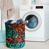 Laundry Basket - Fractal Faces - Express Shipping