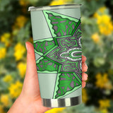 Tumbler - Slaya Collection - Green Star Flower
