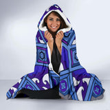 Economy Hooded Blanket - Slaya Collection - Blue Star