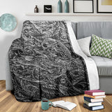 Premium Blanket - Drawing BW 4