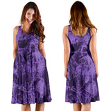 Women's Dress - Purple Skulls