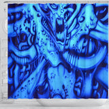 Shower Curtain - Blue Monster