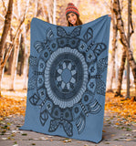 Premium Blanket - Slaya's Collection, Butterfly Medallion blue